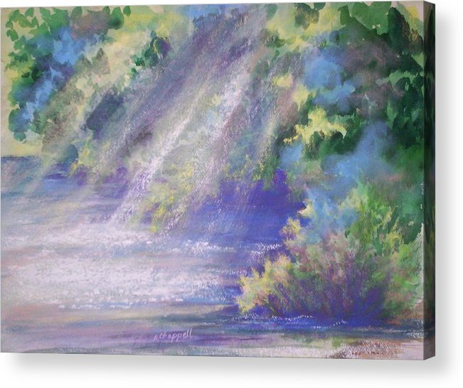 Impressionism Acrylic Print featuring the painting Filtered Light by Becky Chappell