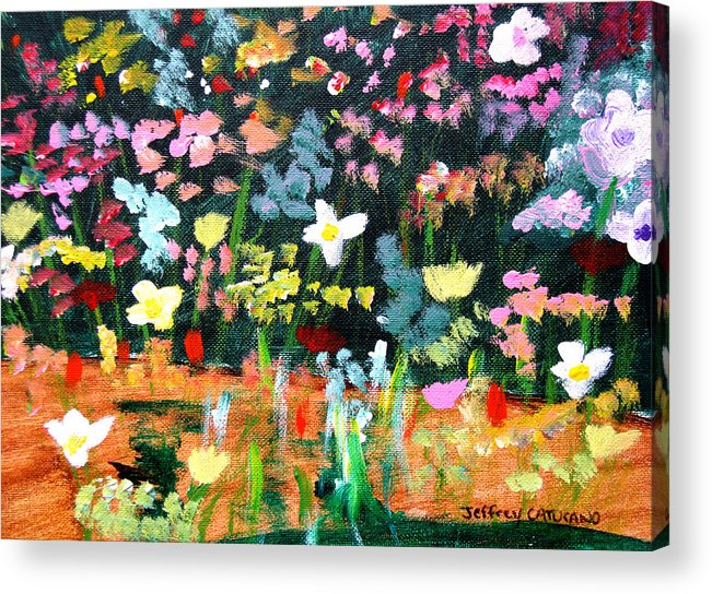 Flowers Acrylic Print featuring the painting Flower Detail by Jeff Caturano