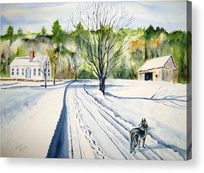 Landscape Acrylic Print featuring the painting Footprints by Brian Degnon