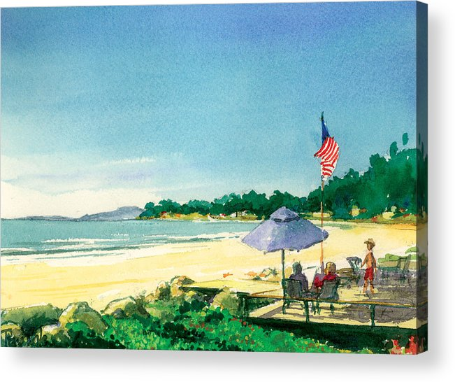 Fourth Of July Acrylic Print featuring the painting Fourth Of July by Ray Cole