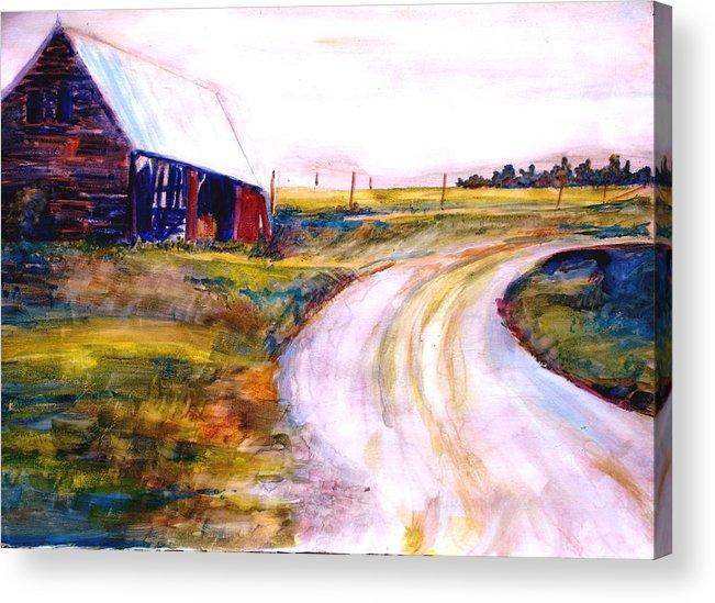 Barn Acrylic Print featuring the painting Freedman Farm by Joyce Kanyuk