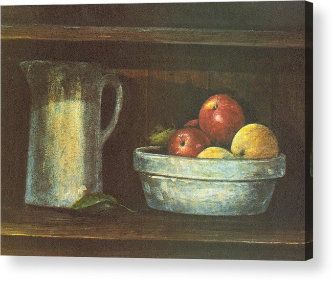 Fruit Acrylic Print featuring the painting Fruit Bowl by Charles Roy Smith