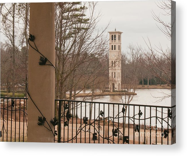 Furman University Acrylic Print featuring the photograph Furman Bell Tower 1 by David Waldrop