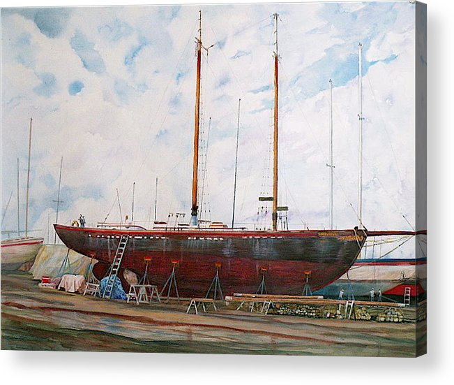 Ship Acrylic Print featuring the painting Genevieve by Wendy Hill