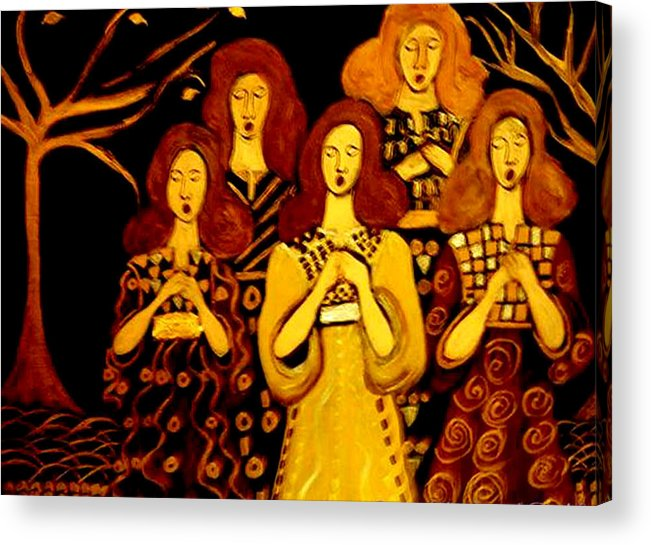 Choir Acrylic Print featuring the painting Golden Chords by Rusty Gladdish