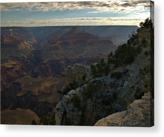 Grand Canyon Acrylic Print featuring the photograph Grand Canyon Monring by Stephen Vecchiotti