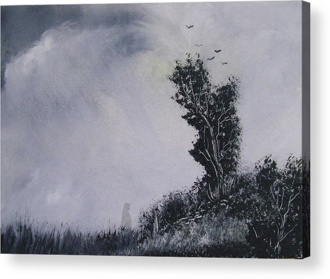 Haunted Acrylic Print featuring the painting Haunted by Andy Davis