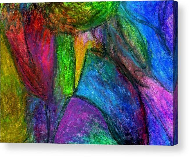 Creative Passages Acrylic Print featuring the pastel Heart Bloom by Cassandra Donnelly