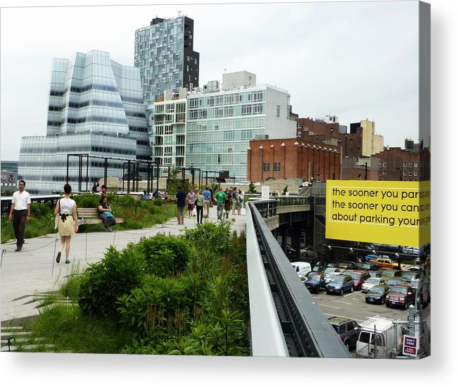 New York City Acrylic Print featuring the photograph Highline Parking by Dan Stone