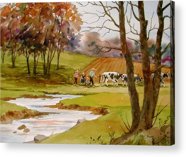 Landscape Acrylic Print featuring the painting Homeward Bound by Faye Ziegler