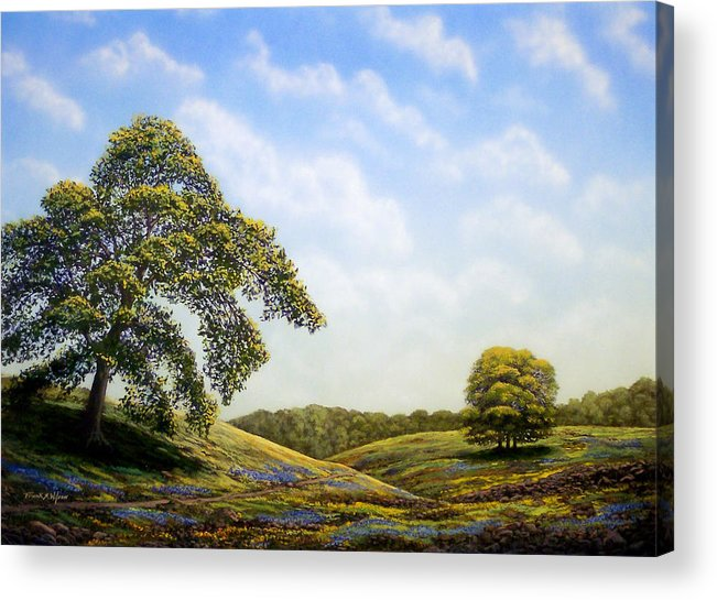 Landscape Acrylic Print featuring the painting In Bloom by Frank Wilson