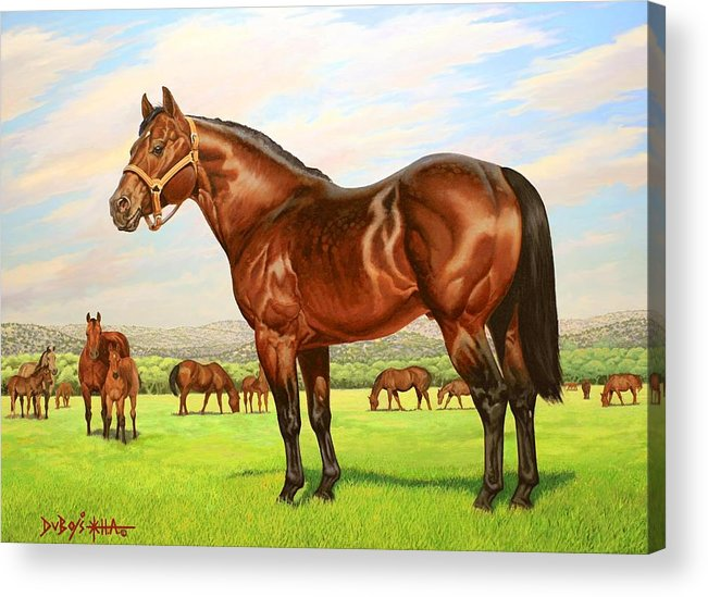Quarter Horse Acrylic Print featuring the painting King P-234 No.two by Howard Dubois