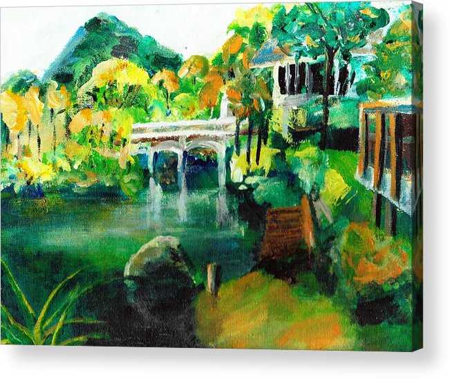 Lake Acrylic Print featuring the painting Lake Malibu by Randy Sprout