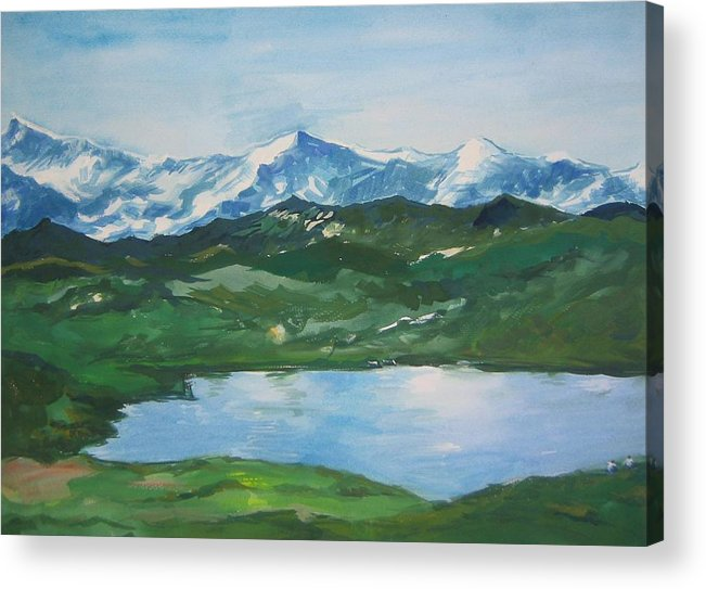 Landscape Acrylic Print featuring the painting Landscape 36 by Min Wang