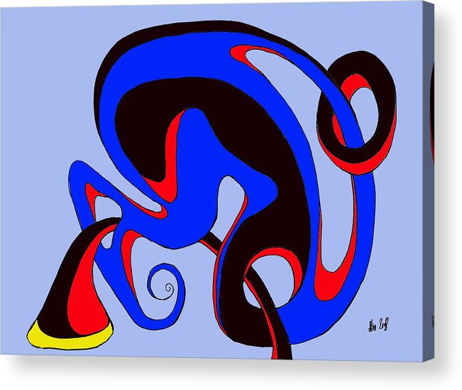 \ Acrylic Print featuring the digital art Life Circuits by Helmut Rottler