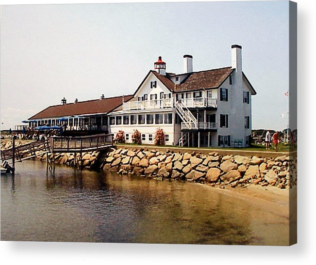 Landscape Photographs Acrylic Print featuring the photograph Lighthouse Inn At Bass River by Frederic Kohli