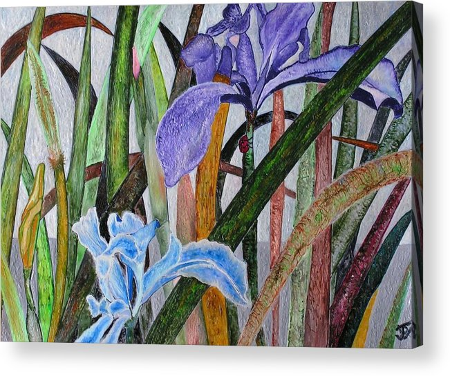 Floral Acrylic Print featuring the painting Lilly by John Vandebrooke