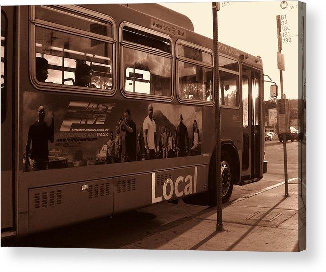 Metro Acrylic Print featuring the photograph Local by Linda De La Rosa