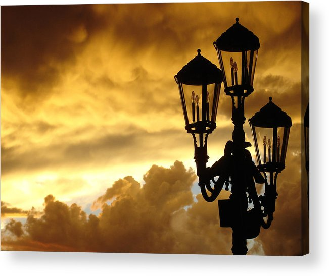 Night Sky Acrylic Print featuring the photograph Mirage Night Sky by Michael Simeone