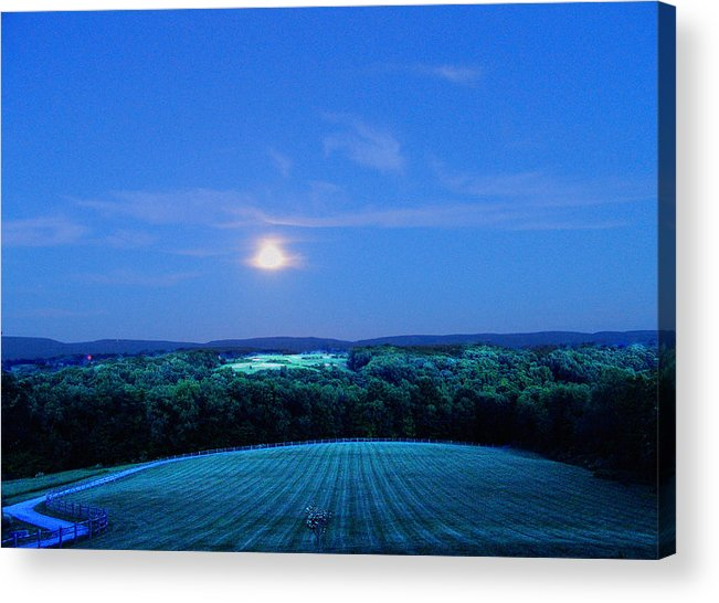 Night Acrylic Print featuring the photograph Moonlight by John Toxey