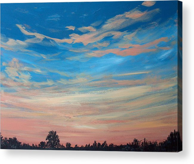 Sunrise Acrylic Print featuring the painting Mornin Iv by Pete Maier