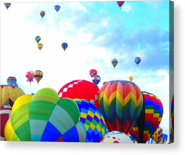 Balloon Acrylic Print featuring the photograph Morning Skies by Loring Laven