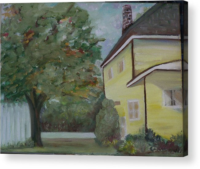 Oil Painting Acrylic Print featuring the painting Nh Home by Pamela Wilson