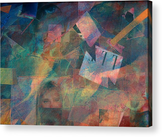 Abstract Art For Sale Acrylic Print featuring the painting Night Vision by Jerry Hanks