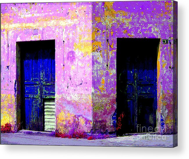 Darian Day Acrylic Print featuring the photograph Old Door 3 By Darian Day by Mexicolors Art Photography