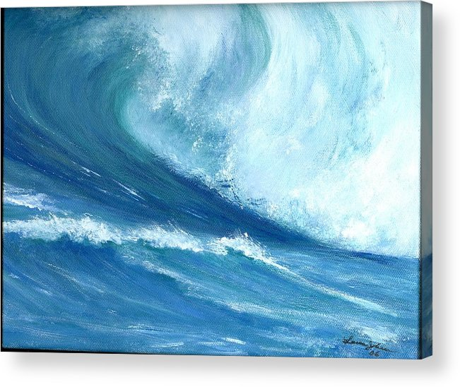 Wave Acrylic Print featuring the painting Outside Looking In by Laura Johnson