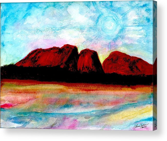 Dreamscape Acrylic Print featuring the painting Ozzzzzzzzzz by Laura Johnson