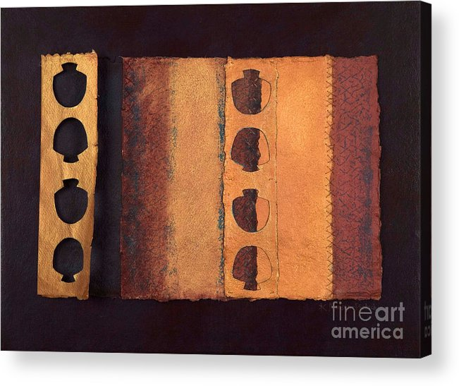 Pageformat Acrylic Print featuring the mixed media Page Format No 3 Tansitional Series  by Kerryn Madsen-Pietsch