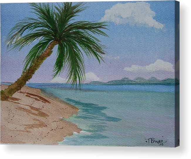 Palm Tree Acrylic Print featuring the painting Palm Tree by Dottie Briggs