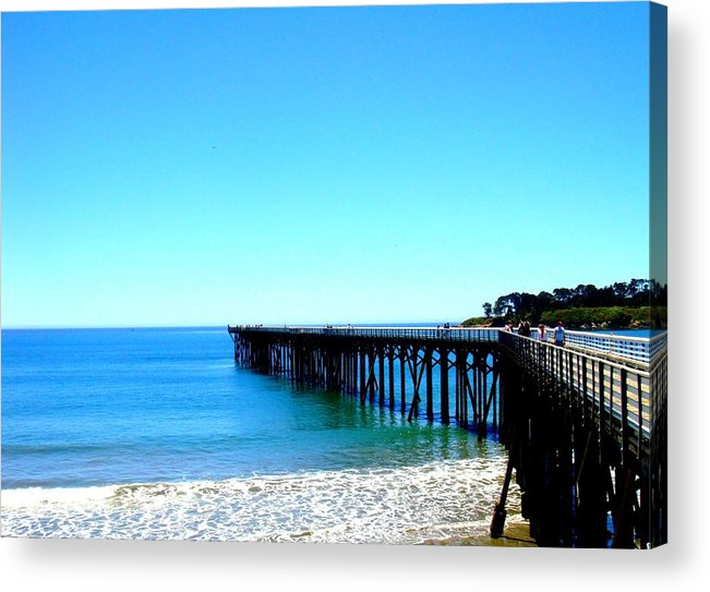 Pier Acrylic Print featuring the photograph Peaceful Pier by Melissa KarVal