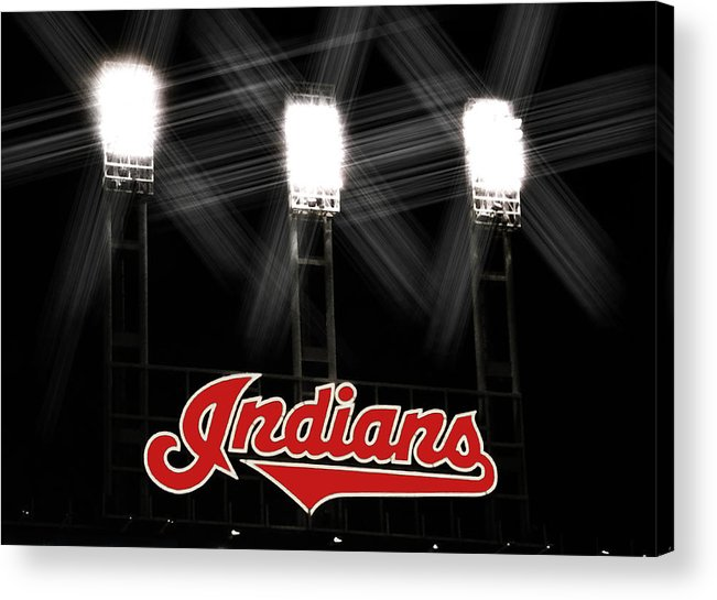 Cleveland Acrylic Print featuring the photograph Play Ball by Kenneth Krolikowski
