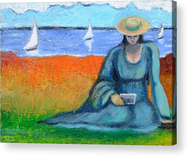 Cape Cod Acrylic Print featuring the painting Postcards From Home by Susan Stewart
