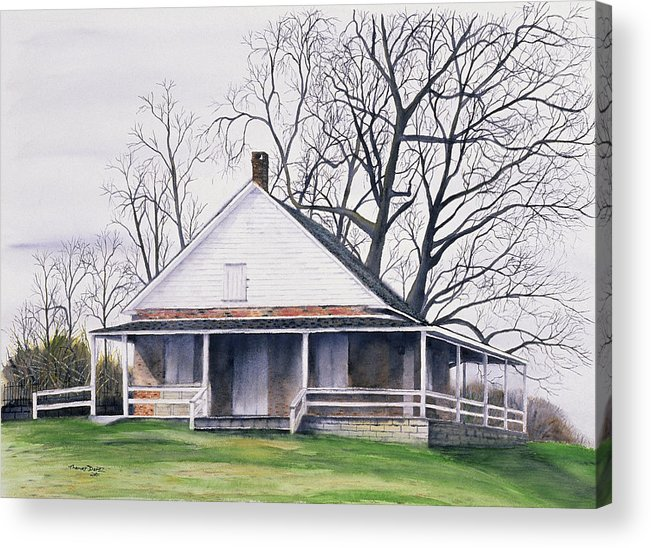 Quaker Acrylic Print featuring the painting Quaker Meeting House by Tom Dorsz