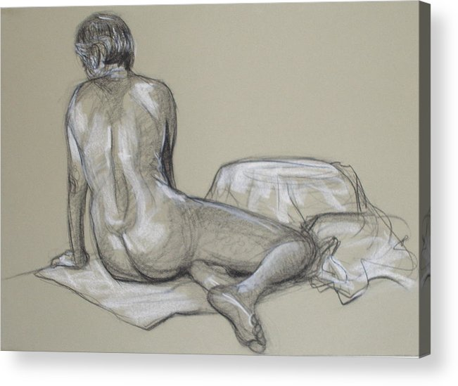 Realism Acrylic Print featuring the drawing Randy 2 by Donelli DiMaria