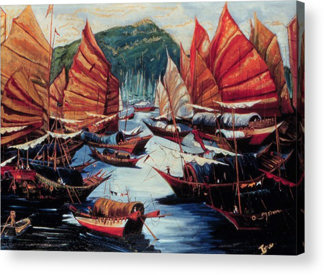 Repulse Bay  Acrylic Print featuring the painting Repulse Bay by Ione Citrin