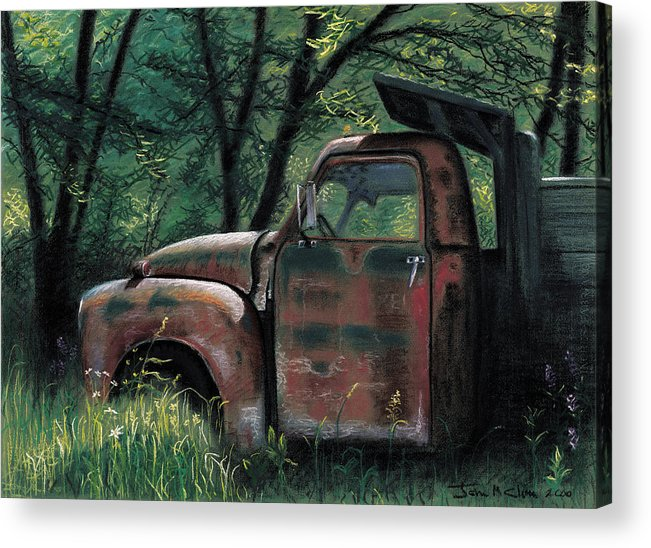 Retired Acrylic Print featuring the pastel Retired by John Clum