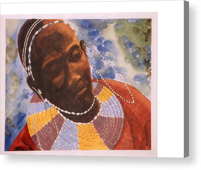 Maasai Acrylic Print featuring the painting Ritual by Theo Snell