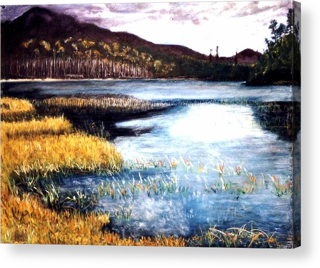 Landscape Acrylic Print featuring the painting San Gabriel II by Jack Spath