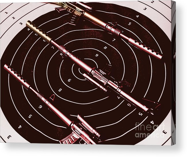 Sniper Acrylic Print featuring the photograph Scopes Of Military Precision by Jorgo Photography - Wall Art Gallery