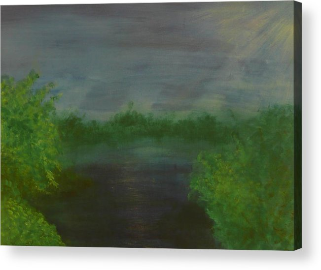 Landscape Acrylic Print featuring the painting Serenity by Jennifer Hernandez