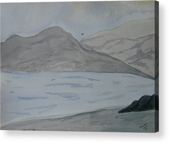 Landscape Acrylic Print featuring the painting Serenity by Liz Vernand