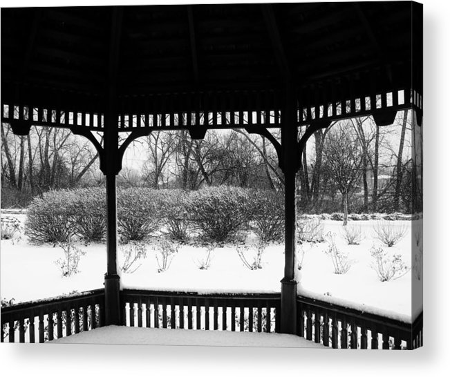 Winter Acrylic Print featuring the photograph Shelter From The Storm    Landscape   Indiana by Rory Cubel