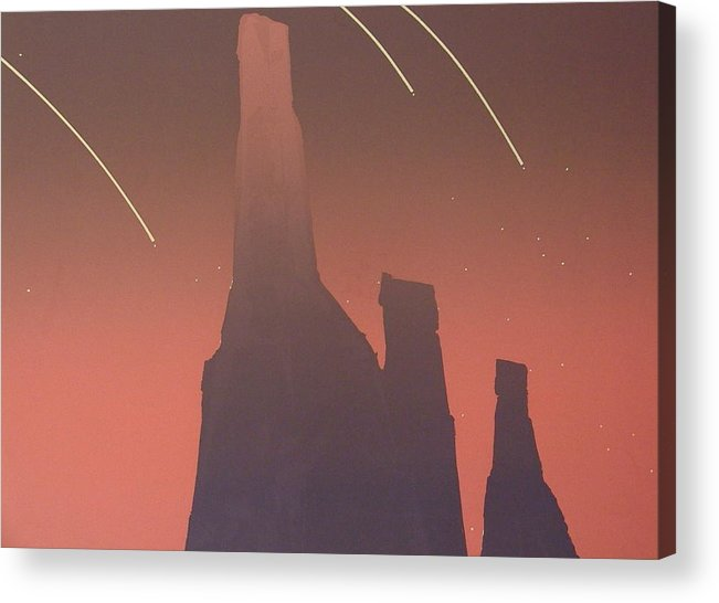Shooting Stars Acrylic Print featuring the painting Shooting Star II by Gary Kaemmer