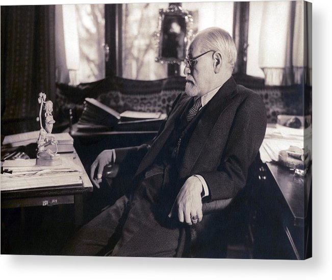 History Acrylic Print featuring the photograph Sigmund Freud Seated In His Study by Everett