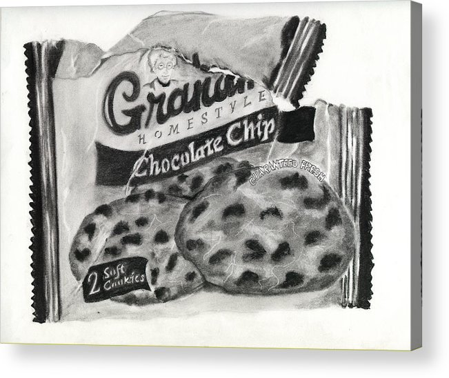 Cookies Acrylic Print featuring the drawing Snack Time by Penny Everhart
