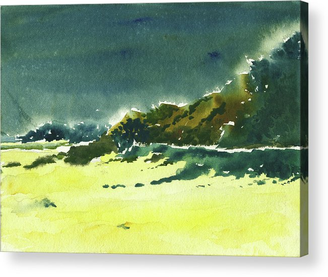 Storm Acrylic Print featuring the painting Storm Is Brewing by Anil Nene